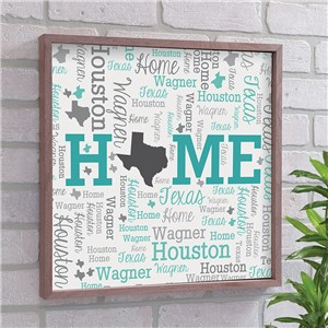 State Word-Art Decor | Framed Word Cloud State Art