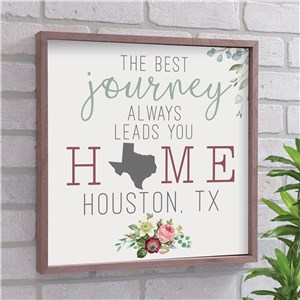 Leads Me Home To You State Art | Personalized Favorite State Sign