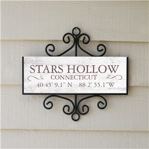 Personalized Coordinate Signs | Home Sign With Personalized Coordinates