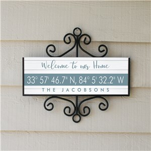 Personalized Coordinates Address Signs | Address Sign With Coordinates