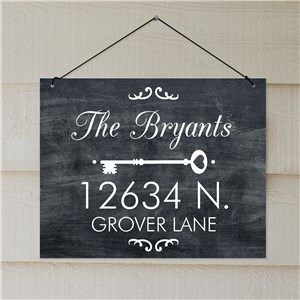 Welcome Signs For Homes | Chalkboard Look Address Sign