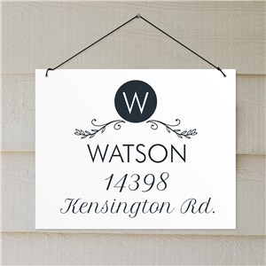 Family Name Address Sign | Light Weight Address Sign