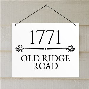 Address Sign Decor | Lightweight Address Sign
