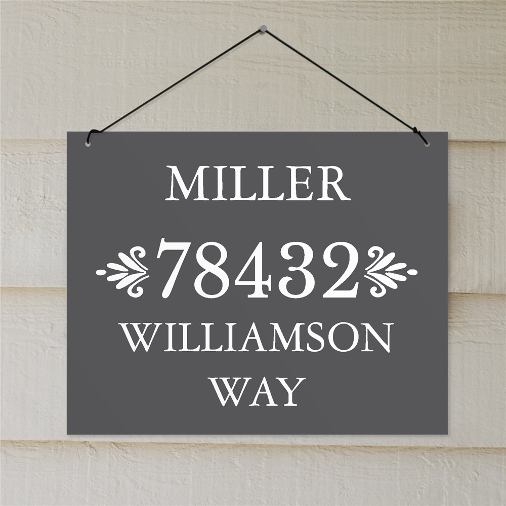 Personalized Address Sign On String | Customized Sign for Address