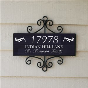 Personalized Family Address Signs | Dark Wood Address Signs