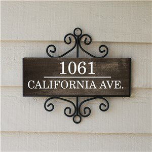 Personalized Signature Signs | Wood Look Address Sign
