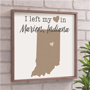 Left My Heart In Personalized State With Symbol Wall Decor 615740X