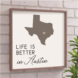 Personalized Life Is Better In Symbol Wall Decor 615749X