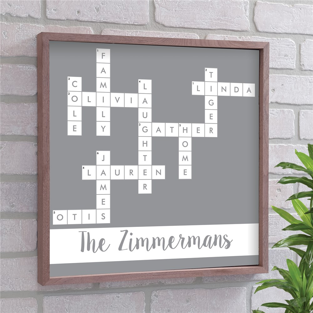 Crossword Wall Decor | Personalized Family Name Signs