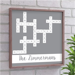 Personalized Family Name Crossword Wall Decor