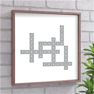 Family Framed Wall Decor | Crossword-Themed Gifts