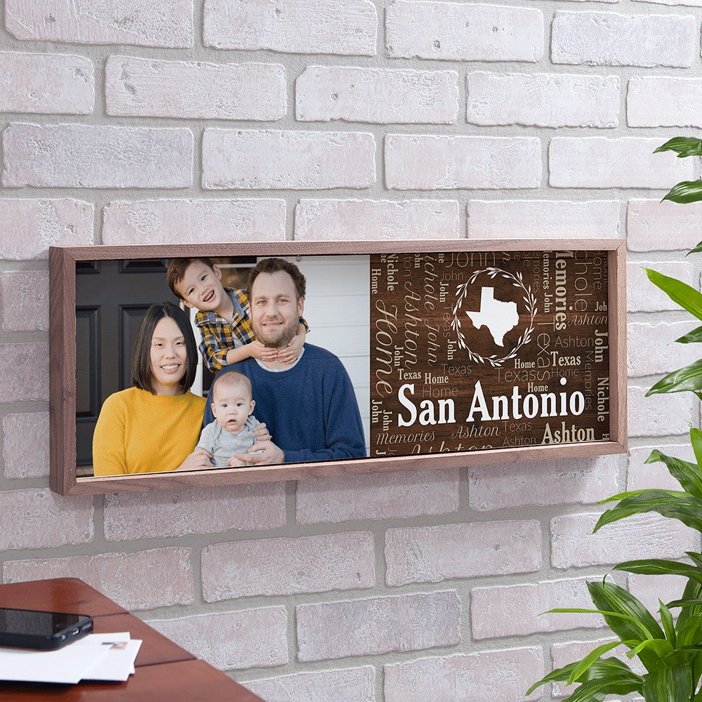 Framed Wood Sign | Framed Wood Photo Sign