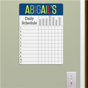 Personalized Daily Schedule Dry Erase Chart 6163337