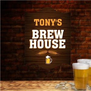 Personalized Brew House Wall Sign
