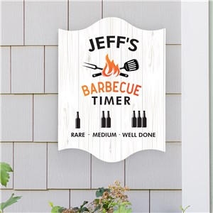 Personalized BBQ Timer Wall Sign