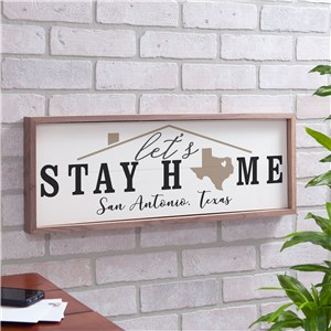 Personalized Home Landmark White Wood Wall Sign