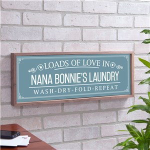 Personalized Loads of Love Framed Wall Sign