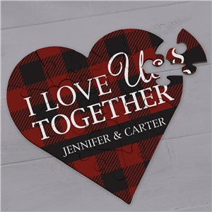 Personalized I Love Us Together Heart Puzzle