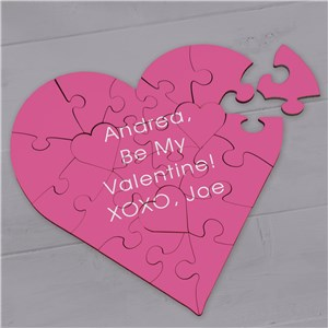 Personalized Any Message Heart Puzzle