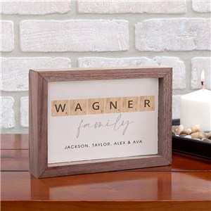 Personalized Word Tiles Table Top Sign 61736211
