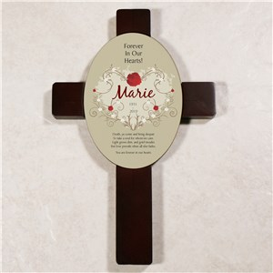 Forever In Our Hearts Keepsake Wall Cross | Sympathy Gift