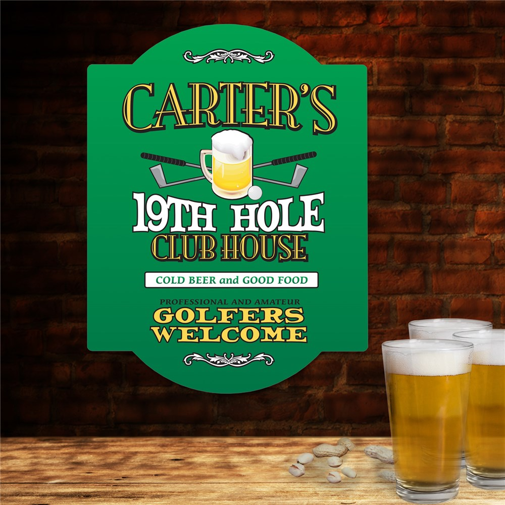 Personalized Golf Wall Sign -  19th Hole