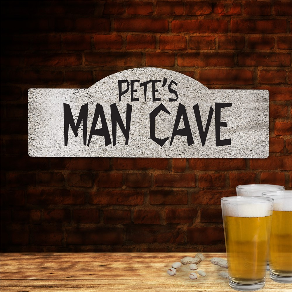 Custom Printed Man Cave Wall Sign | Man Cave Gifts