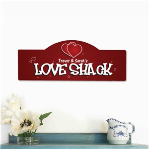 Love Shack Personalized Wall Sign | Personalized Couple Gifts