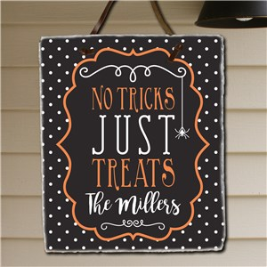 Personalized Family Trick or Treat Slate |