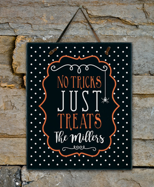 Personalized Family Trick or Treat Slate