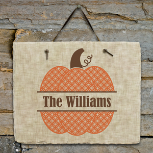 Personalized Family Name Pumpkin Slate | Personalized Welcome Signs
