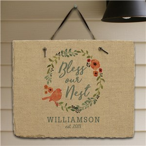 Spring Family Wall Sign | Personalized Housewarming Gifts