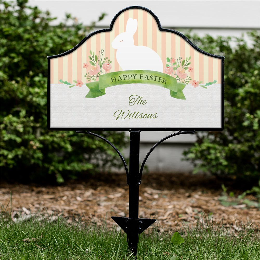 Personalized Happy Easter Magnetic Metal Collapsible Yard Sign Set 6311249610S