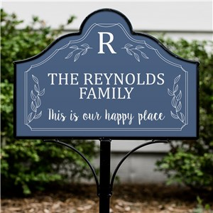 Personalized Happy Place Magnetic Sign Set | Personalized Yard Signs