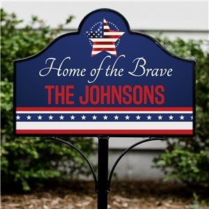 Patriotic Lawn Decor | Personalized Garden Signs