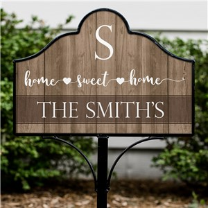 Personalized Home Sweet Home Heart Magnetic Sign Set | Customized Yard Signs