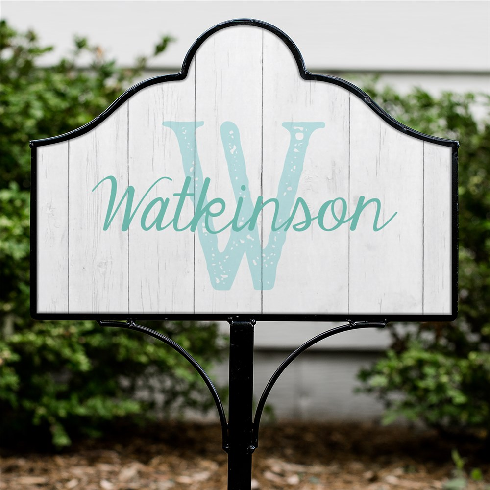 Personalized Weathered Pallet Family Magnetic Sign Set | Personalized Garden Signs