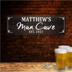Personalized Man Cave Wall Sign | Man Cave Wall Decor