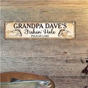 Personalization Fishin Hole Wall Sign | Personalized Fishing Sign