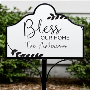 Bless our Home Personalized Magnetic Sign Set | Personalized Home Sign