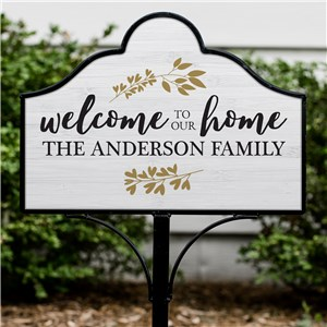 Welcome to our Home Personalized Magnetic Sign Set | Personalized Welcome Signs