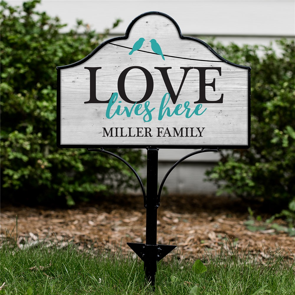 Love Lives Here Personalized Magnetic Sign Set | Personalized Yard Sign