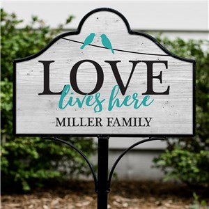 Personalized Garden Signs | Love Lives Here Sign
