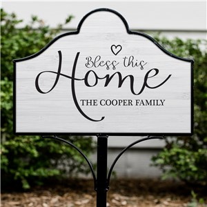 Bless This Home Personalized Magnetic Sign Set | Personalized Family Name Sign