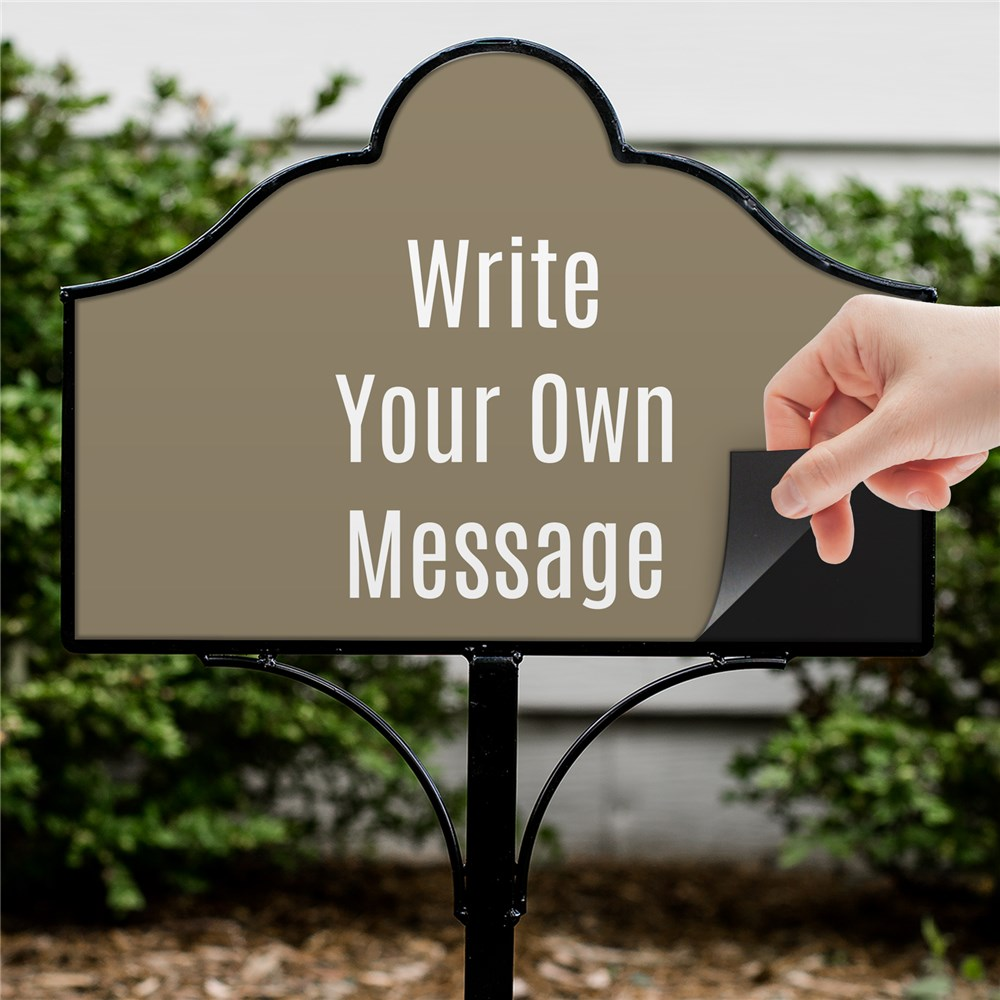 Personalized Write Your Own Magnetic Sign Set | Personalized Yard Signs
