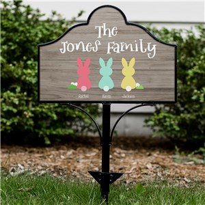 Personalized Outdoor Signs | Personalized Easter Bunny Signs