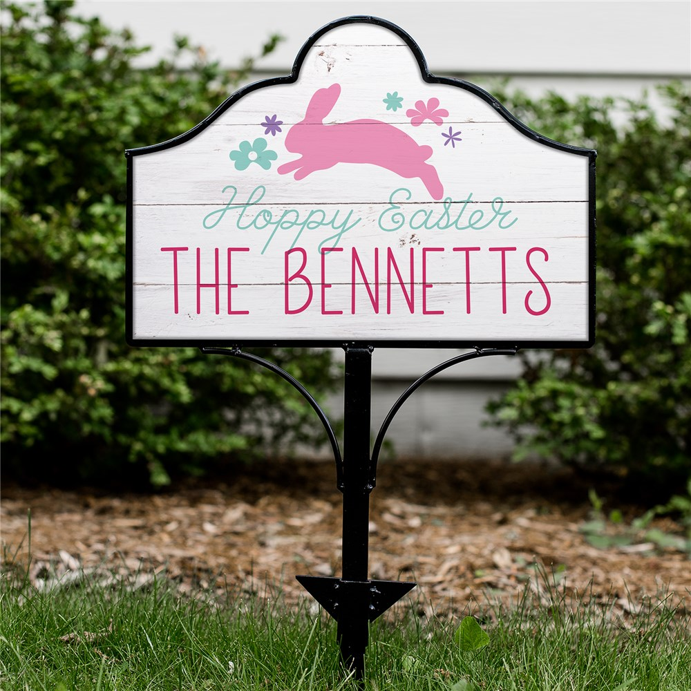 Personalized Easter Home Decor | Easter Yard Sign