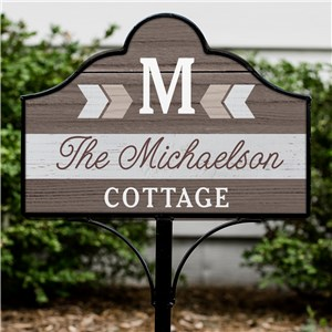 Personalized Metal Yard Sign | Chevron Home Signs