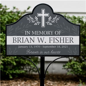 Interchangeable Garden Sign Set | Memorial Cross Sign