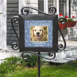 Photo Memorial Marker For Pet | Garden Stake Pet Memorial